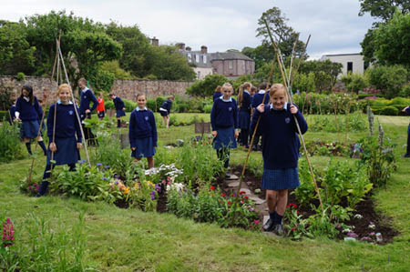 Belhaven Hill School pupils in