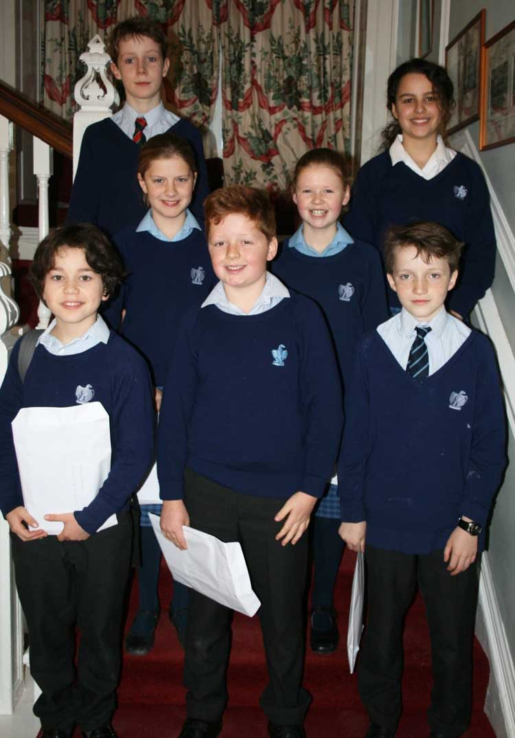 Belhaven Hill School winners at Garvald poetry competition