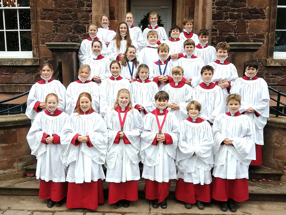 Choristers at Belhaven Hill School